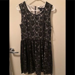 French Connection size US 10 black lace dress